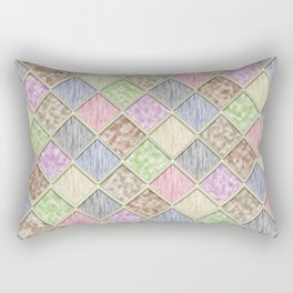 Colorful Seamless Rectangular Geometric Pattern IV Rectangular Pillow