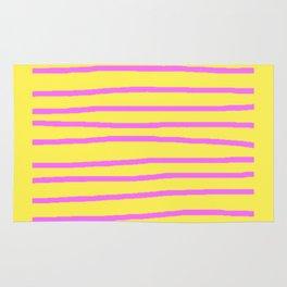 DECORATIVE PURPLE YELLOW MODERN ART Rug
