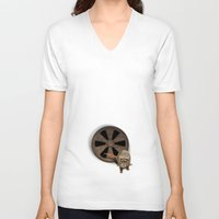 fear V-neck T-shirts featuring fear by ErsanYagiz
