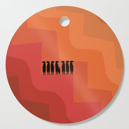 Meerkat design in sunset shades palette Cutting Board