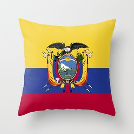 Ecuador flag emblem Throw Pillow