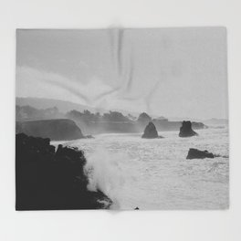 Misty Cliffs of the Soul Throw Blanket