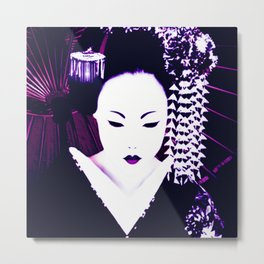 Geisha by 'Chole Metal Print