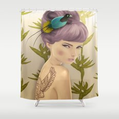 Paradise Bird Shower Curtain