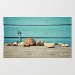Beach Hut Stones Rug