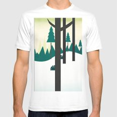 Beautiful scenery MEDIUM White Mens Fitted Tee