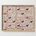 Bull Terrier Dog Word Art pattern by k9printart