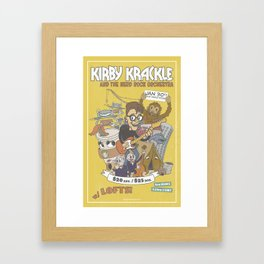 Kirby Krackle and The Nerd Rock Orchestra Print Framed Art Print
