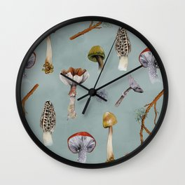 Mushroom Forest Party Wall Clock