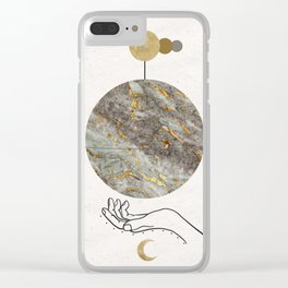 In Your Orbit Clear iPhone Case