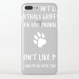 Korthals-Griffon-tshirt,-i-like-my-Korthals-Griffon Clear iPhone Case