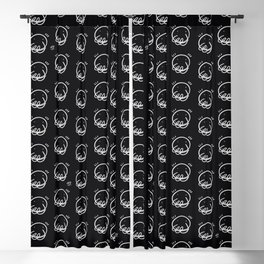Smiles - Digital ink - iPad pro - On print. Black BG Blackout Curtain