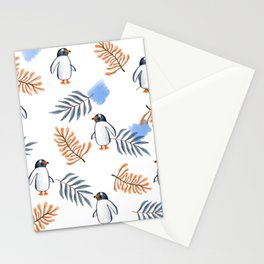 Penguin in Foliage Stationery Cards