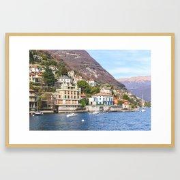 Hillside Villas at Lake Como Framed Art Print
