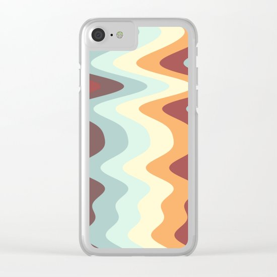 Abstract lines 27 Clear iPhone Case