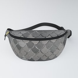 Mermaid Scales Silver Gray Glam #1 #shiny #decor #art #society6 Fanny Pack