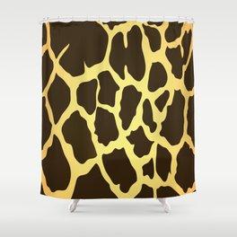 Giraffe Skin Print Shower Curtain