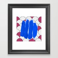 Blu Imperfection Framed Art Print