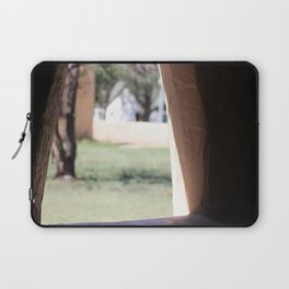 Stucco Window with View at Fort Stanton New Mexico Laptop Sleeve
