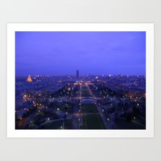Paris At Dusk Art Print