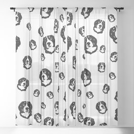 AMAZING  GIFTS FOR THE BERNESE DOG LOVER FROM MONOFACES Sheer Curtain