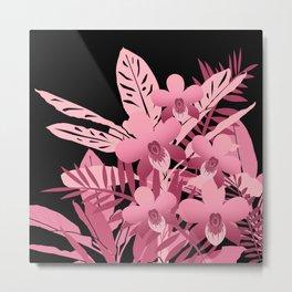 Bouquet of pink tropical plants 2 Metal Print