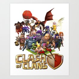 Clash ON! Clash of Clans Art Print