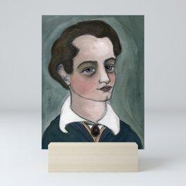 """The Dream of Lord Byron"", Lord Byron Literary Portrait Mini Art Print"