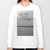 scripture Long Sleeve T-shirts featuring Hilton Head Island, Scripture by Stephanie Stonato