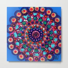 Fruit Salad Mandala Metal Print