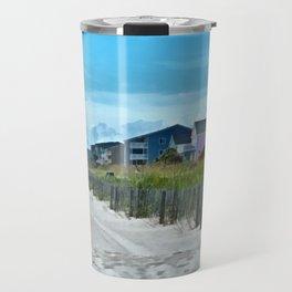 Sandy Beachfront PhotoArt Travel Mug