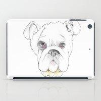 bulldog iPad Cases featuring Bulldog by Matt Ellero