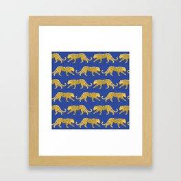 The New Animal Print - Blue Framed Art Print