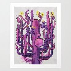 Cactus Playground Art Print