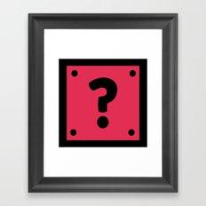 Video Game Mystery Box Framed Art Print
