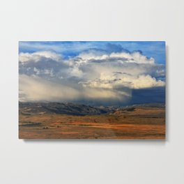 Distant Summer Rainstorm Metal Print