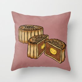 M is for Moon Cake Throw Pillow