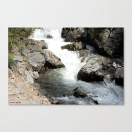 """Where the Mighty Uncompahgre River is But a """"Trickle"""" Canvas Print"""