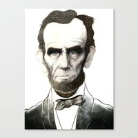 lincoln Canvas Prints featuring Lincoln by C.M. Duffy