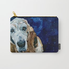 Basset Hound Nebula Stickers Dog Portrait Carry-All Pouch