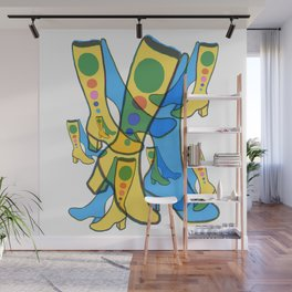 Gogo Boots Everywhere Dancing the Night Away Wall Mural