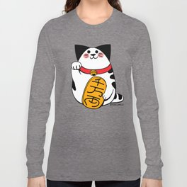 Teh as Maneki Neko Cat Long Sleeve T-shirt