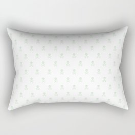 SKULLS PATTERN - LIGHT GREEN - LARGE Rectangular Pillow