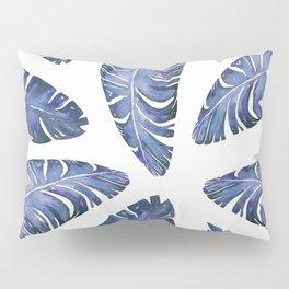 Tropical Banana Leaves Blue #society6 #buyart Pillow Sham