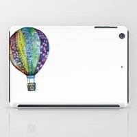 hot air balloon iPad Cases featuring Hot Air Balloon by Emily Stalley