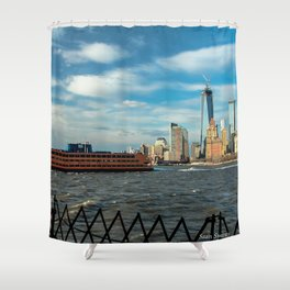 Freedom Tower 2013 w/ Boat Shower Curtain