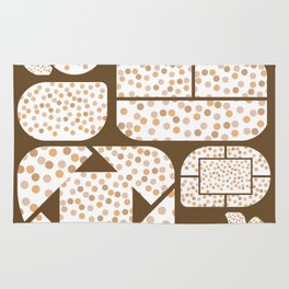 Expressive Windows of Brown and Rust Dots Rug