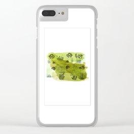 Succulent Study Clear iPhone Case