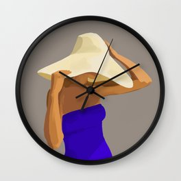 At The Beach: Blue Suit Wall Clock