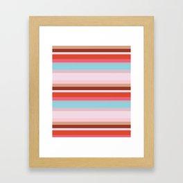CityStripes Multi Retro Framed Art Print